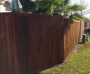 Board on Board Cedar Wood Fence | Metal Posts | Privacy Fence Companies