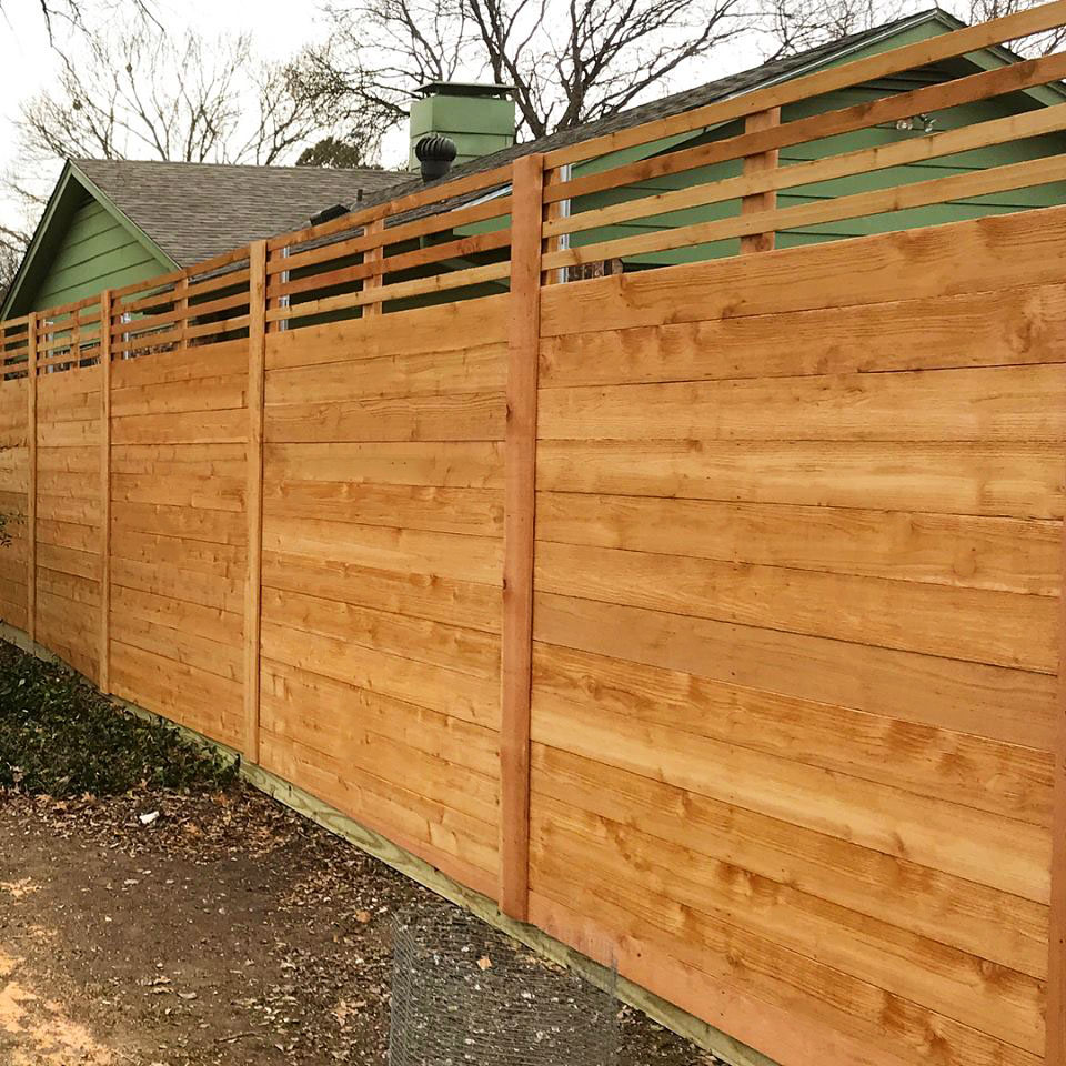 Horizontal Wood Fences A Better Fence Company Horizontal Fences
