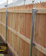 low cost cedar wood fences