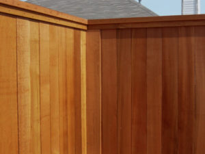 Fence Companies Mckinney | 8 ft tall Wood Fence Cedar Metal Posts Cap Trim