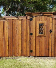 fence companies A Better Fence Company custom gate board on board fences