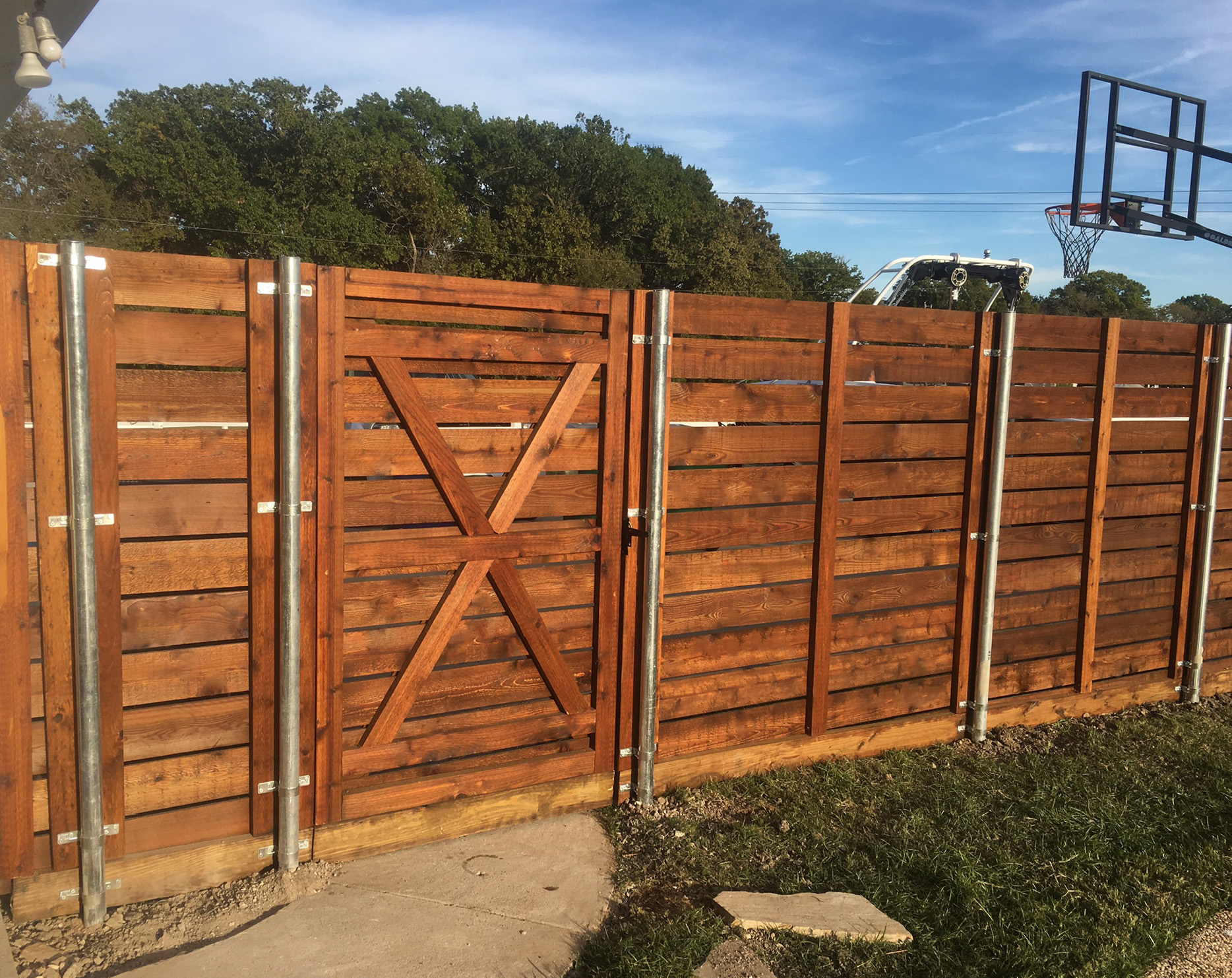 Call A Better Fence Company Today For A Free Horizontal Wood Fence  Estimate! (940)220 9099