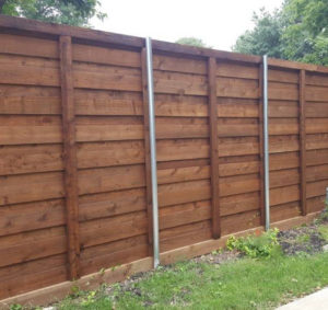 A Better Fence Company | Horizontal Wood Fences Aubrey