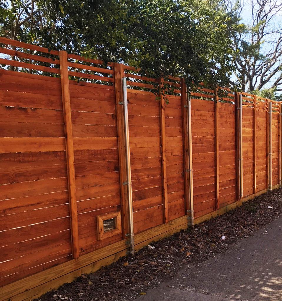Horizontal Fence Builders | Horizontal Fencing Contractors | Cedar Horizontal Fencing