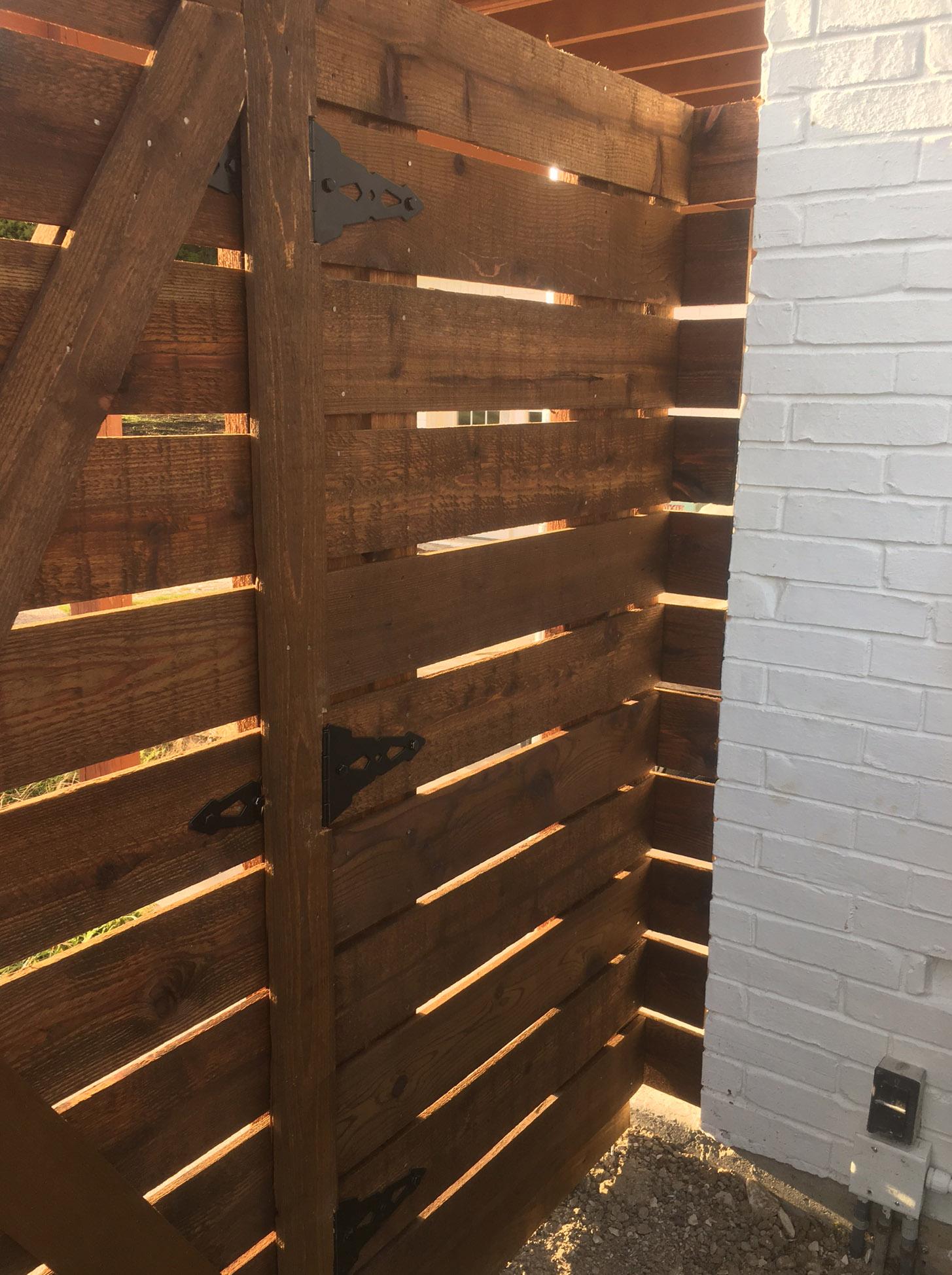 Horizontal wood fences a better fence company
