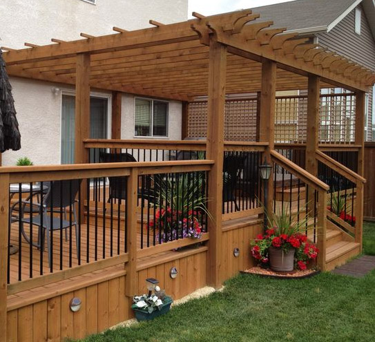 Pergola Off Of An Existing Covered Porch: Patio Cover Company