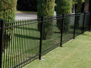 extended picket metal fences are a more decorative option for wrought iron fencing this metal fence option is perfect for pool areas