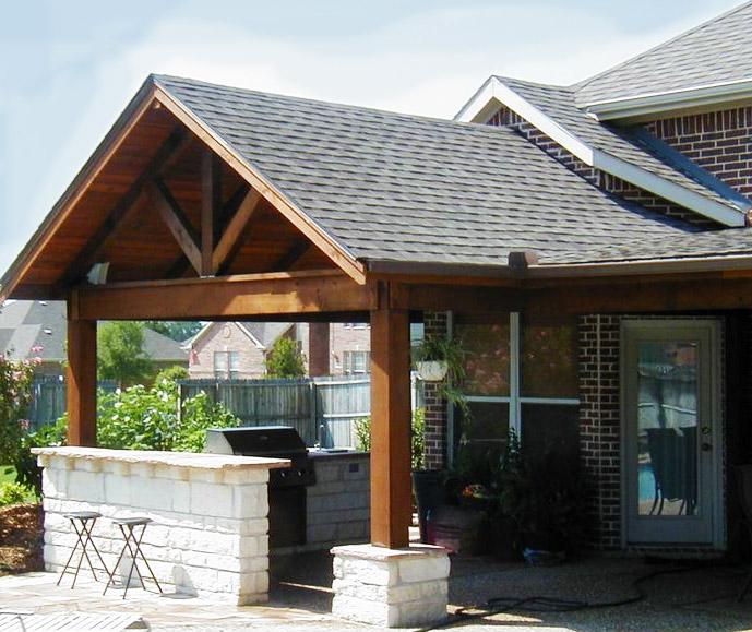 Pergola Off Of An Existing Covered Porch: Frisco Patio Cover Companies