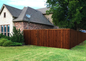 Flower Mound Cedar Board on Board Fence Metal Posts | Flower Mound Fence Company | Privacy Fence Contractor Flower Mound TX