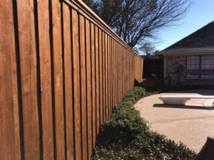 Privacy Cedar Fence Board on Board Fences Frisco Metal Posts 8 ft tall fence